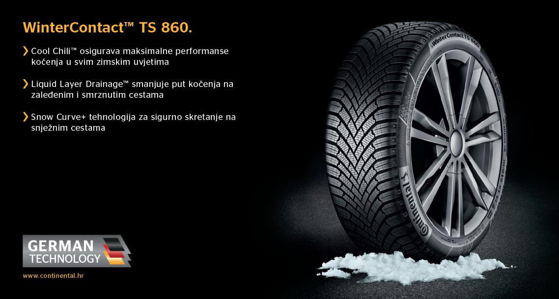 Continental zimske gume TS860 za kompaktna i srednja vozila!